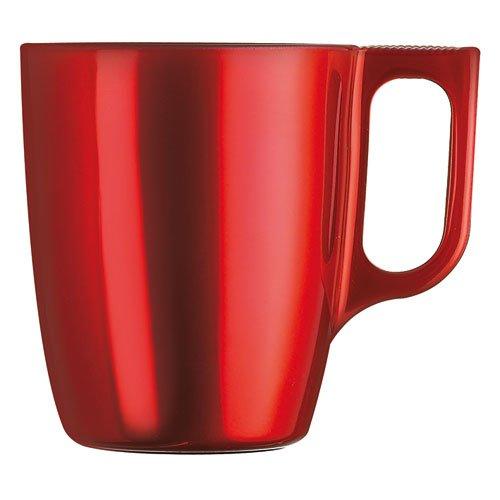 Luminarc Flashy Breakfast J1121- Taza/vaso (Solo, Rojo, Vidrio), color rojo, 1 unidad