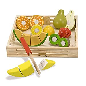 Melissa & Doug Cutting Fruit Set - Wooden Play Food Kitchen Accessory