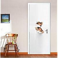 LXHLXN 3D Etiqueta de la Puerta decoración para el hogar Voyeur deursticker decoración Pegatinas Porte Adhesivo