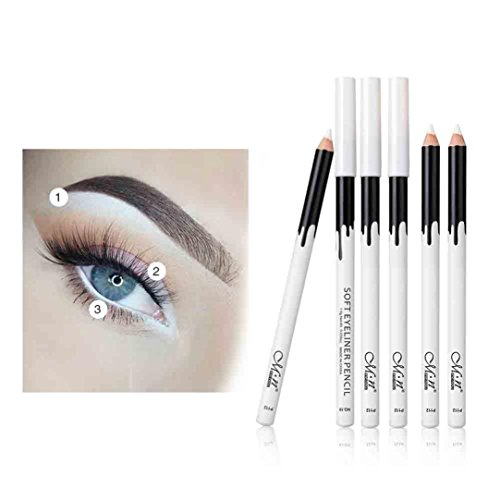 TAOtTAO Weißer Eyeliner-Bleistift-Augen-Zwischenlage 12PCS wasserdichtes langlebiges Auge erhellen