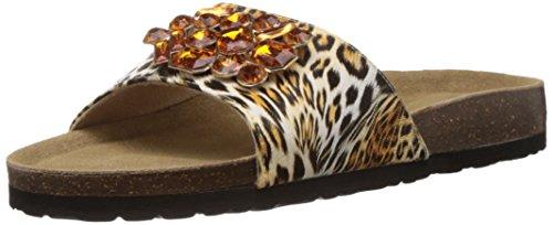 Carlton London Women's Kalyani Black Matt Fashion Slippers