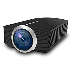 Home Cinéma Projecteur, vprawls 1200 lumens Vidéoprojecteur LED Full HD 1080p Office TV Movie de projection avec HDMI USB VGA AV pour Home cinéma PC Ordinateur Portable PS3/PS4 Xbox iPhone Android Smartphone