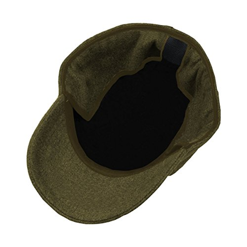 WORK AND STYLE Invy - Cappellino in Pile con paraorecchie Verde Oliva 2ad298cb2a67