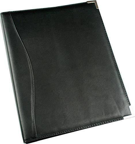 Esposti A4 Ring Binder - Leather Look - A4 - Silver Metal Corners -
