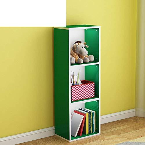 Eeayyygch libreria a reticolo, libreria a combinazione libera, semplice armadio per bambini, armadio creativo a traliccio, piccolo scaffale siamese-g 69x24x137cm (27x9x54)