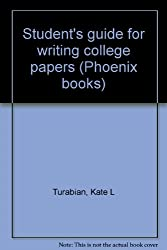Student's guide for writing college papers (Phoenix books)