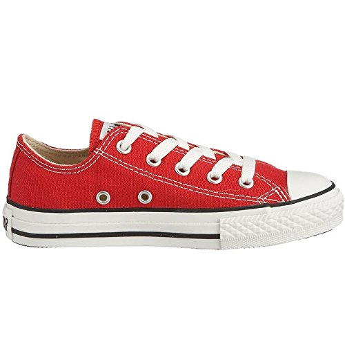Converse Chuck Taylor All Star Junior Seasonal Ox 15762 Unisex - Kinder Sneaker Rot (Rosso)