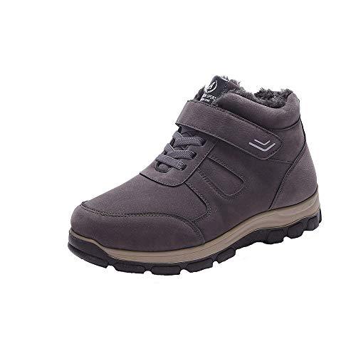 Fantaisiez Bottes Homme Velours Chaud Épaississant Botties Coton Antidérapant Automne Hiver Chaussures Plates Tête Ronde Boots Décontractée Mode