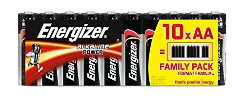 Piles AA Energizer Alkaline Power, Pack de 10