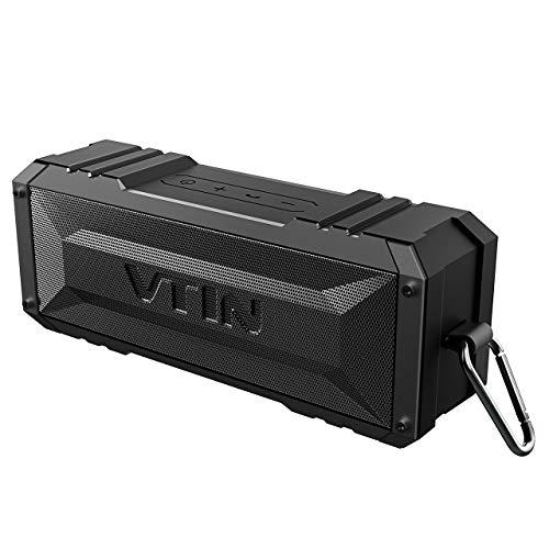 VTIN Punker Altoparlante Bluetooth 20W, Cassa Bluetooth Portatile IPX5 Impermeabile, 30 Ore di Play, Crashproof, Speaker Senza Fili con Incorporato Microfono e Doppia Cassa