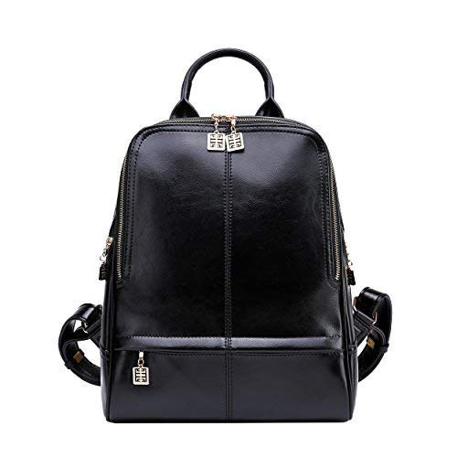 BOYATU Real Leather Backpack Purse for Women Stylish College School Ladies Bags
