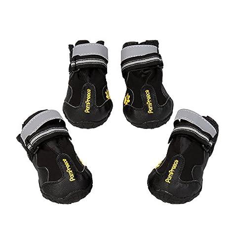 Kingwo - Chaussures de protection pour chiens de taille moyenne à large (labrador, husky), étanches, respirantes et anti-dérapantes