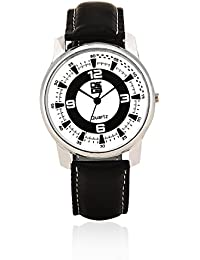 DE13 Kids' White Coloured With Black Synthetic Strap Analog Quartz Watch