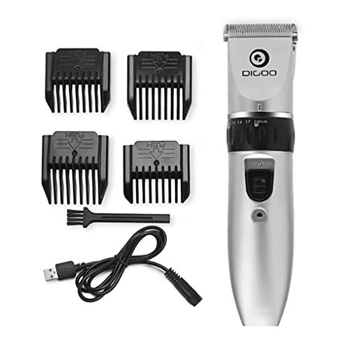 Yongse Digoo BB-T1 USB Ceramic R-Blade Haarschneidemaschine Wiederaufladbare Haarschneidemaschine 4X Extra Limiting Comb -