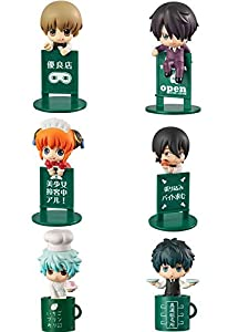 Megahouse- Yorozuya Cafe Display 8 Mini Figuras 4.5 Cm Gintama Ochatomo Serie, Multicolor (MGHGI821028)