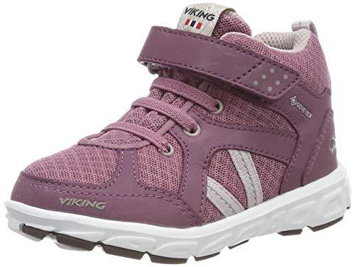 Viking Unisex-Kinder Alvdal Mid R GTX Hohe Sneaker, (Dark Pink/Violet 3921), 28 EU