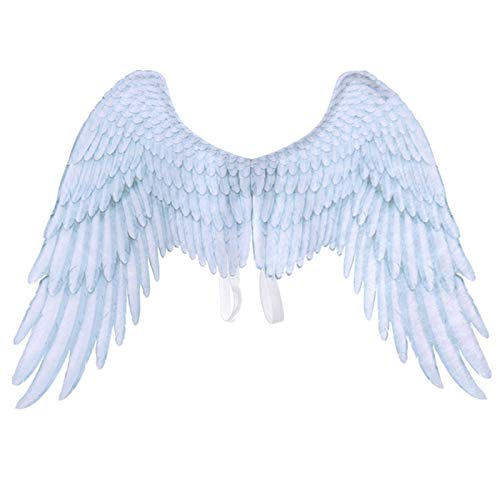 SODIAL Halloween Junge M?dchen Kind Schwarz Wei? Engels Flügel Halloween Engels Flügel Unisex Mehrzweck Kreativ Kostüm Flügel Party Prop Wei?