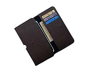 ATV PU Leather CHOCOLATE Color Pouch Case Flip Cover For BlackBerry Curve 8980