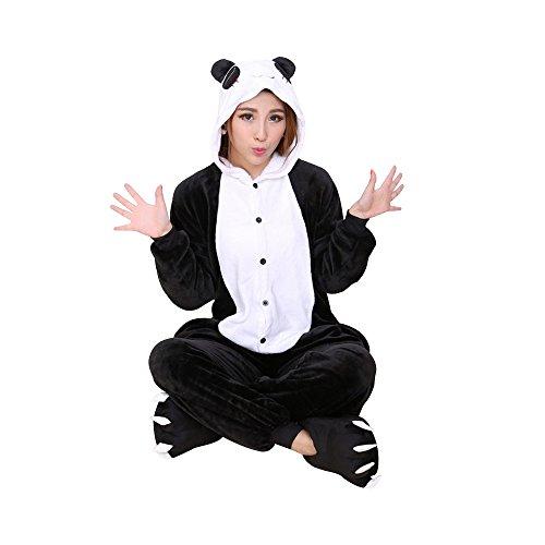 Imagen de ochenta animal carnaval disfraz cosplay pijamas adultos unisex ropa de noche panda xl talla 173 176cm