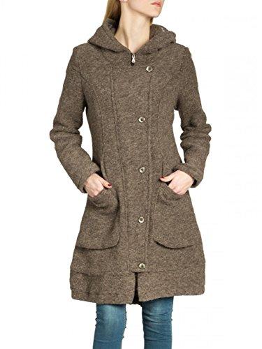 CASPAR MTL011 Damen Wollmantel, Farbe:braun;Größe:S