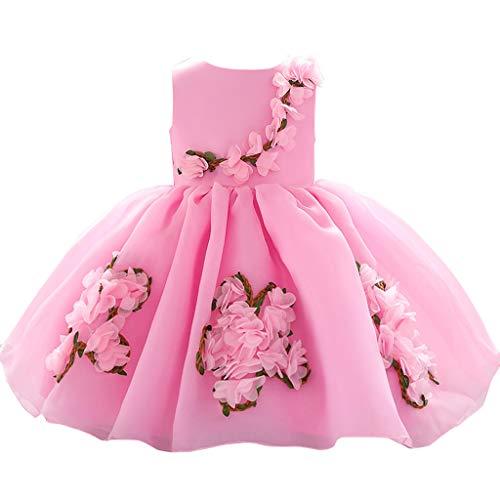e Kleid Baby Mädchen Blumen Prinzessin Party Performance Formal Tutu Dress ()