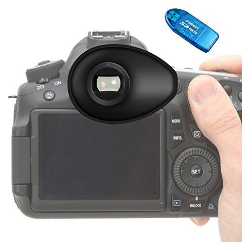 Galleria fotografica First2savvv Qualità premium DSLR SLR Camera oculare 22 mm per macchina fotografica di per Nikon D750 D610 D600 D500 D300S D7200 D7100 D7000 D90 D5500 D5300 D5200 D5000 D3400 D3300 D3200 D3100 D700 D300 D200 D100 D80 D70 D60 D70 D60 DSLR Camera + lettore di schede SD - QJQ-TX-P-P01G10