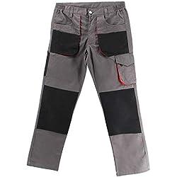 Misemiya - Pantalons DE Travail Multi-Poche Uniforme Industriel Atelier MÉCANIQUE Technique Plombier MAÇON REF.889 - Medium, Pantalon de Travail Multipoches 889-23