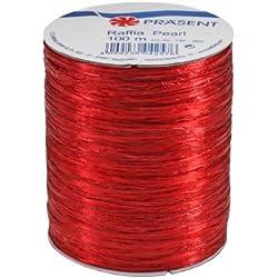 C.E. Pattberg GmbH & Co. KG Prasent - Rollo de cinta (rafia, 100m), color rojo