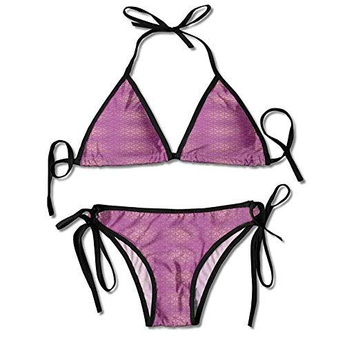 Sexy Soft Bikini 2 Pieces,Flowers Pink Shades Classical Sexy Bikini 2 Pieces