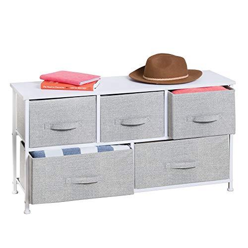 mDesign Comoda con 5 cajones - Organizador de armarios y vestidores en...