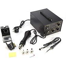Estación de Soldadura, Electronica Kit del Soldador Digital con Pistola de Aire Caliente de 3