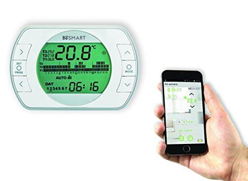 BeSMART 20111887 Termostato WiFi Per Smartphone, Bianco