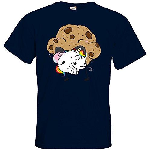 getshirts - Pummeleinhorn - T-Shirt - Cookie frisst Pummeleinhorn Navy
