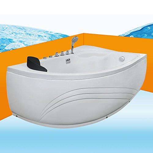 Eckwanne Whirlpool Raumsparwunder Pool Jacuzzi Badewanne A617-B-ALL 160x100, Selfclean:aktive Schlauch-Reinigung +70.-EUR, Sonderfunktion1:Ausstattung A 0.-EUR
