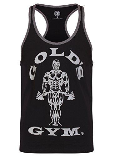 Golds Gym Herren Muscleshirt Tanktop Muscle Joe Stringer Kontrast - Schwarz/Grau Gr. XL