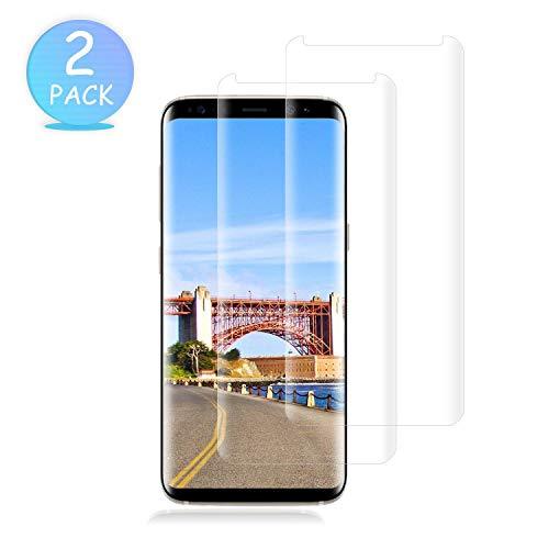 WHJJK [2 Stück] Galaxy S8 Panzerglas Schutzfolie, Premium 9H Härtegrad Gehärtetem Glas Displayschutzfolie, Blasefrei, Ultra Klar Glatt, Anti-Kratzer, für Samsung Galaxy S8(Transparent) Aus Gehärtetem Glas