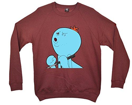 Rick and Morty - Mr Meeseeks Oooo yeah Sweatshirt - Burgund - XX-Large (Meeseeks Kostüm)