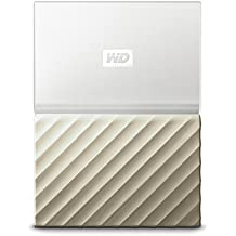 WD 4TB My Passport Ultra - Hard Disk Esterno Portatile, USB 3.0, Software di backup automatico, per PC, per Xbox One e PlayStation 4 - WDBFKT0040BGD-WESN - Bianco/Oro