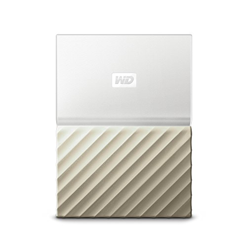 WD My Passport Ultra 4TB - Disco duro portátil y software de copia de seguridad automática para PC, Xbox One y PlayStation 4 - blanco / oro