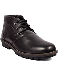 Woodland High Ankle Casual Leather Shoes For Men