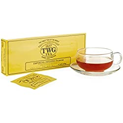 TWG Singapore - The Finest Teas of the World - OOLONG IMPERIAL Tee - 15 Handnaht Teebeutel aus reiner Baumwolle