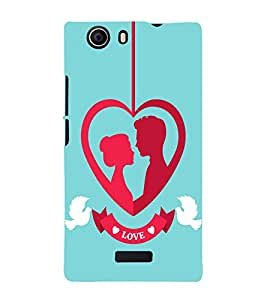 PrintVisa Married Couple Bird 3D Hard Polycarbonate Designer Back Case Cover for Micromax Canvas Nitro 2 E311