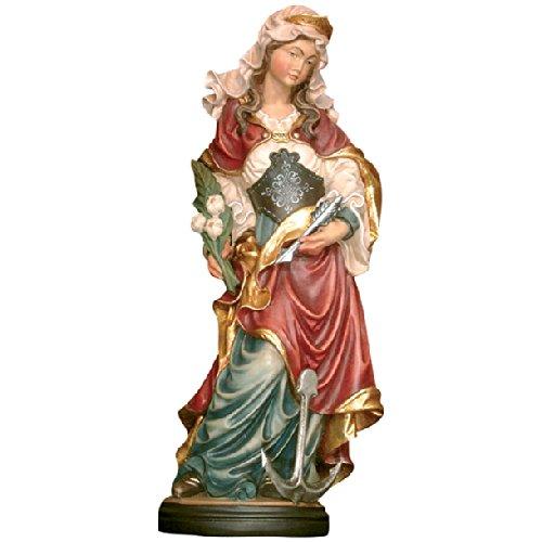 Demi Art - Heiligenfigur Hl. Filomena mit Pfeil und Anker aus Berg-Ahorn Holz geschnitzt und von Hand bemalt, 36 cm (Pfeil Krippe)