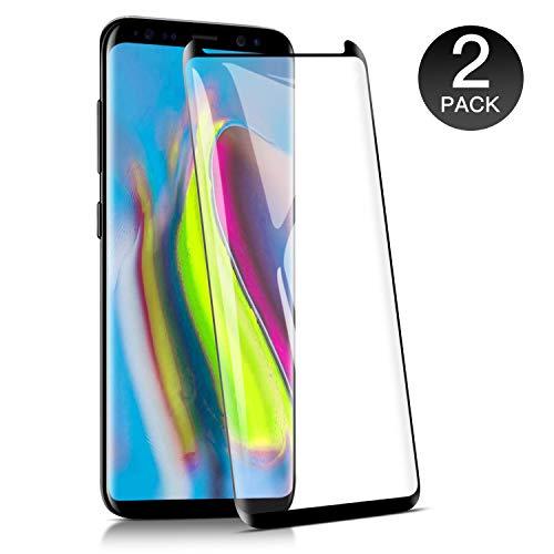 WieStoung 2-Unidades Cristal Templado Samsung Galaxy S8 Protector Pantalla, Vidrio Templado Protector Samsung Galaxy S8,9H Dureza/Alta Transparencia/Alta Definicion/Anti-Huella