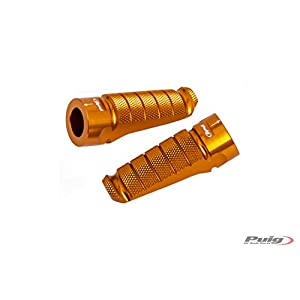 Puig 6301O Racing Model Footpegs, Gold, Set of 2