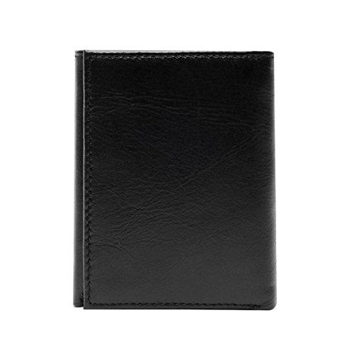5dd131a638 OURBAG Portafoglio uomo RFID Blocking Bifold Portafoglio per uomo Trifold  Porta carte di credito in pelle