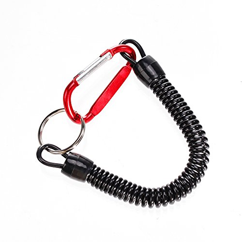 Sopito Fishing Tools Lanyard, 8 Pack Retractable Safety Finishing Ropes  Wire Coiled Lanyard with Stainless Steel Clip