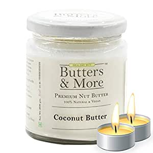 Butters & More Vegan Natural Coconut Butter (200G) Single Ingredient, Unsweetened Nut Butter. with a Surprise Diwali Gift.