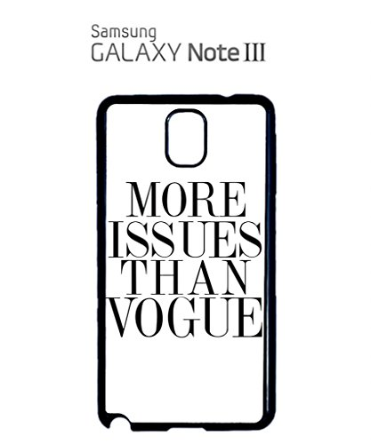 More Issues Than Vogue Mobile Cell Phone Case Samsung Galaxy S5 White Noir