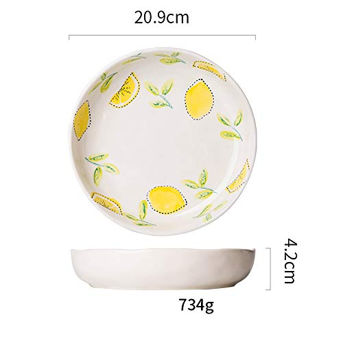 GYXYZS Frische Zitrone Serie Keramik Besteck Haushalt Reisschüssel Suppenschüssel Western Dish Dish